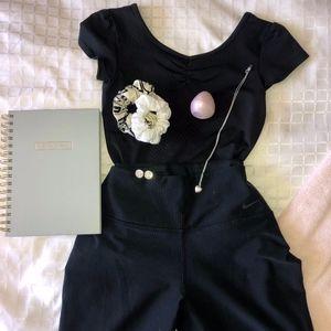 capri black nike leggings
